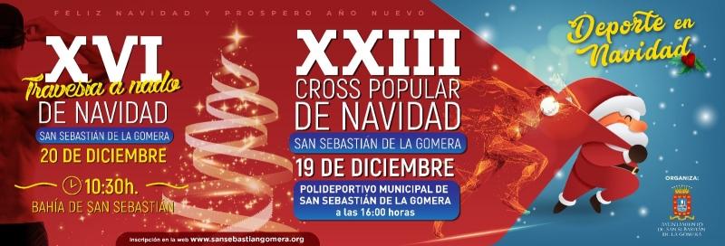 XXIII CROSS POPULAR DE NAVIDAD - XVI TRAVESÍA A NADO DE NAVIDAD SAN SEBASTIÁN DE LA GOMERA   - Inscríbete